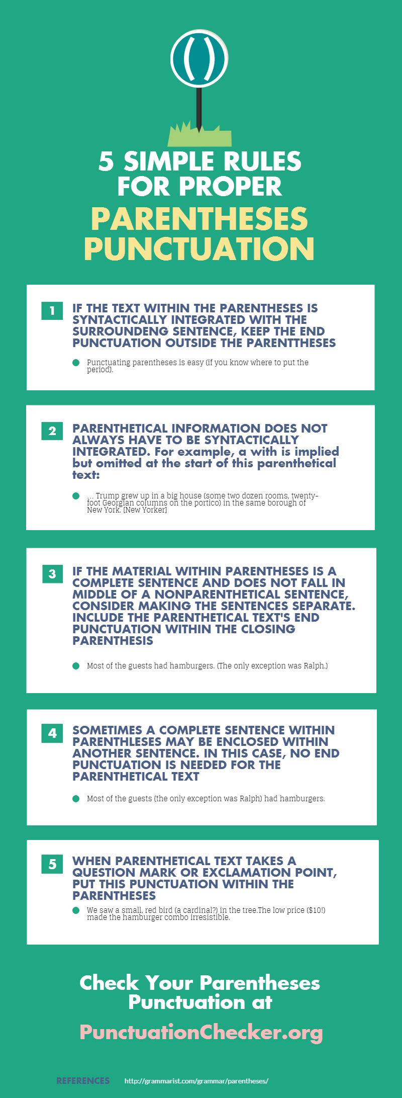 5 simple rules for proper parentheses punctuation