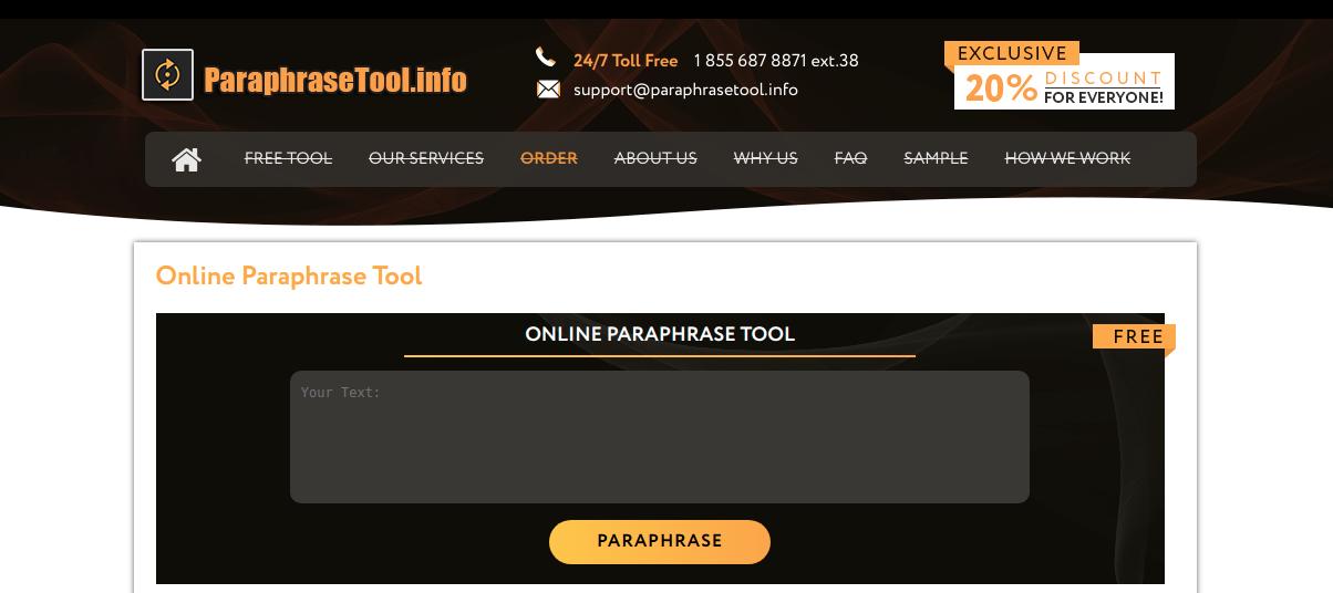 paraphrasetool.info