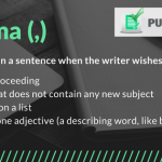 correct punctuation using comma