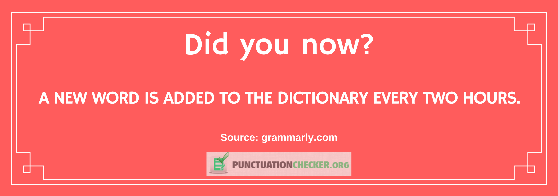 English language interesting fact