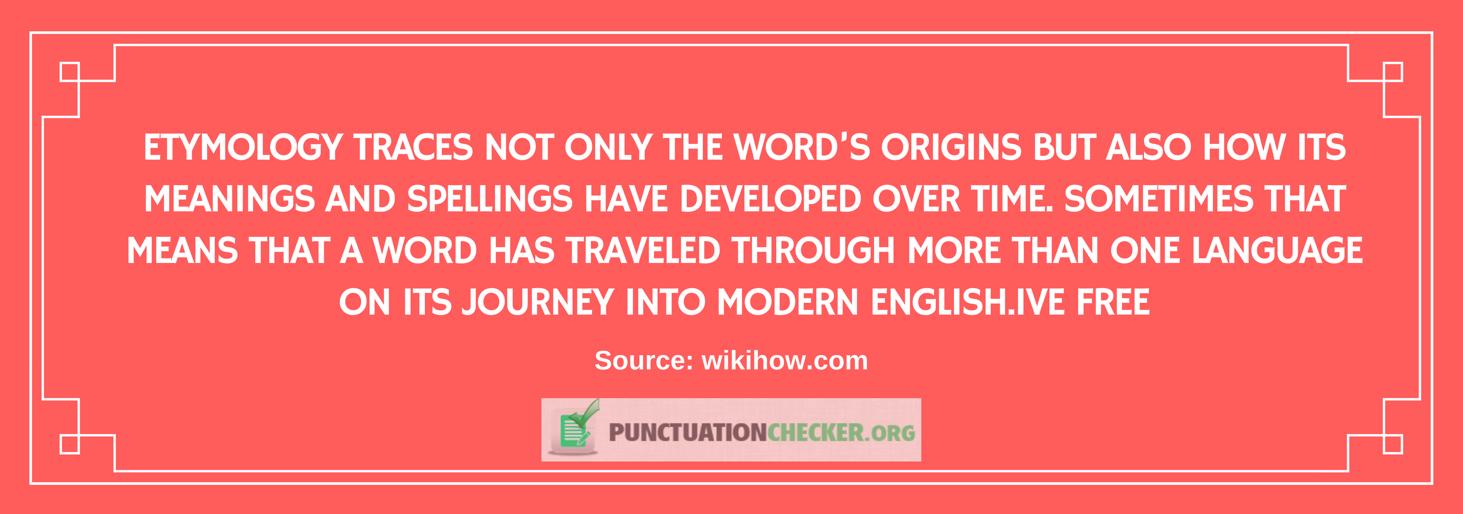 words etymology interesting fact